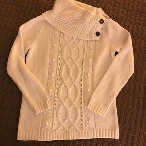 Rafaella side button sweater